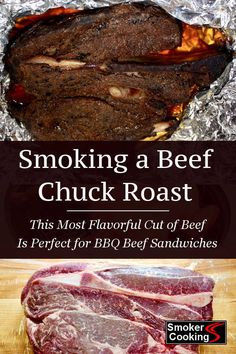 Method For Smoking Chuck Roast That's Juicy and Fall-Apart Tender! Chuck roast is affordable and tasty when cooked low and slow in the smoker. Learn how to smoke a chuck roast that is full flavored, juicy and tender. Smoked Beef Roast, Smoked Chuck Roast, Beef Chuck Roast, Smoked Pork, Smoked Roast Recipe, Chuck Steak, Chuck Roast Recipes, Smoked Meat Recipes, Roast Beef Recipes