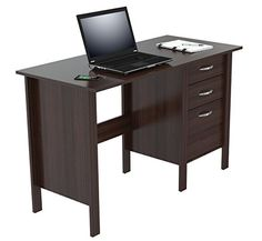 Inval America Writing Desk with 3 Drawers Espresso Wengue * Want to know more, click on the image.(It is Amazon affiliate link) #handsome
