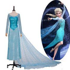 Cheap! The Costume Dress Of Princess Elsa / The Queen Elsa From The Movie frozen Good Gift For Girls (Children)