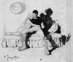 Resultado de imagen de frank frazetta Black and white