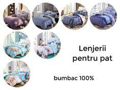 Lenjerie de pat pentru 2 persoane, conține 4 piese și este produsă din bumbac 100%, cu un bun raport calitate/preț și un design modern evidențiat de o combinație de culori plăcute care aduc liniște și un confort sporit dormitorului dumneavoastră Modern, Design, Trendy Tree