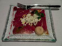 Venison Carpaccio with Cranberries at Nolita Restaurant in Warsaw
