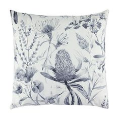 Add a tropical touch to your living space with this botanica cushion. Outdoor Cushions, Floor Cushions, Chair Cushions, King Single Bed, Touch Lamp, Brushed Metal, Decorative Cushions, Saved Items, Ink Color