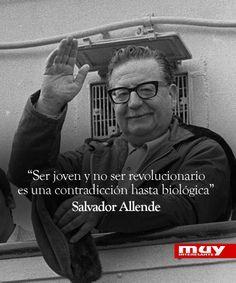 10 frases de Salvador Allende: http://www.muyinteresante.es/cultura/arte-cultura/articulo/10-frases-celebres-de-salvador-allende-911403771866 #frases #quotes