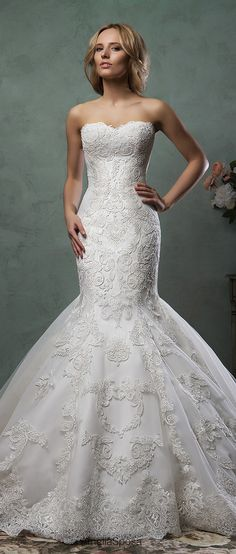 amelia sposa strapless mermaid lace wedding dresses emilia