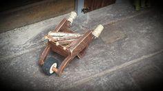 Rustic Miniature Wooden Fairy Wheelbarrow