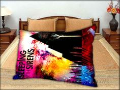 Pierce The Veil and Sleeping with Sirens 20 x by PRODEOPILLOWS, $14.99 Dream Rooms, Dream Bedroom, Band Rooms, Teen Furniture, Sleeping With Sirens, Roomspiration, Pierce The Veil, Bedroom Styles, Pillow Talk