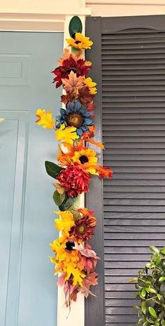 I really wanted to do something a little different around my front door this year. I wanted something full and lush to welcome guests to my home this fall. - This front door hack will help you decorate all year long! Coffee Filter Wreath, Fall Door, Wreath Forms, Front Door Decor, Front Porch, Front Doors, Rustic Art, Fall Wreaths, Fall Garland