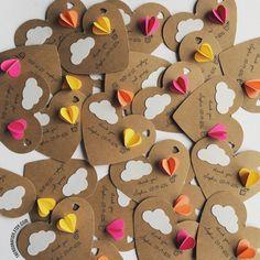 Heart Hot Air Balloon Gift Tags Set of 12