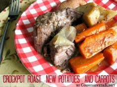 Crockpot Roast New Potatoes and Carrots {Has The Flavors of a Classic Pot Roast}