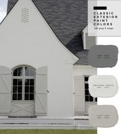 Trendy Ideas For House Fachada Ladrillo Exterior Paint Color Combinations, Exterior Color Palette, Stucco Colors, House Paint Color Combination, Café Exterior, Exterior Gray Paint, Exterior Paint Colors For House, Paint Colors For Home, Exterior Design