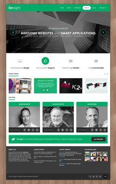 Straight - Multipurpose WordPress Theme #wordpressthemes #responsivedesign #flatdesign