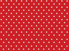 red with white polka dots fabric or paper