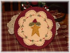 O Christmas Tree Penny Rug/Candle Mat/Chair Swag by pennylaneprims