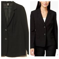 Black Blazer/Jacket Fully lined and in very good condition. Blazer listed is in pic 1 & 4. Boutique Jackets & Coats