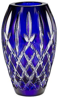 "Waterford Crystal Araglin Prestige Vase Cobalt Blue 7"" | eBay"