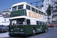 Double Decker Bus, Bus Coach, Historical Photos, Lisbon, Buses, Vintage Photos, Old Things, Europe, Building Designs