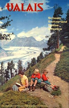 Valais, le pays des vacances, the country of holidays by Schellenberg Hans Heinrich / 1957