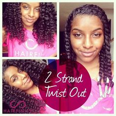 Shaneice from @NaturalNeiicey shows us how to do a two strand twist-out on natural hair. Follow her easy steps to get beautiful, bouncy curls!  To see the video go here: https://www.youtube.com/watch?v=MUTKyQoZbLs #hairfinity #healthyhair #hairvitamins