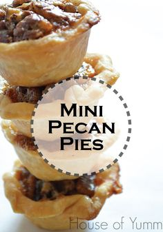 These Mini Pecan Pies may be small, but they pack a BIG Pecan Pie taste! Make them for your next fall party!