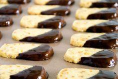 Chocolate-Dipped Orange Peel Cookies