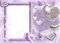 Purple Heart Frames | Free Photoshop Frames