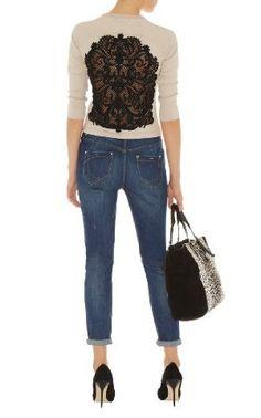 497ada46530 Karen Millen Geometric Lace Cardigan   Knitwear