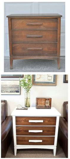 The next time you are shopping in your local thrift store and see that old chest of drawers, buy it. You can completely remake it into something that will look beautiful in the living room with just a little white paint. - Top 60 Furniture Makeover DIY Projects and Negotiation Secrets: