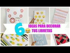 6 ideas para decorar cuadernos(libretas) facil - YouTube