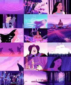 Lots of purple Princess Pocahontas, Disney Pocahontas, Disney Girls, Baby Disney, Disney Princesses, Disney Pixar, Disney And More, Disney Love, Animation Film