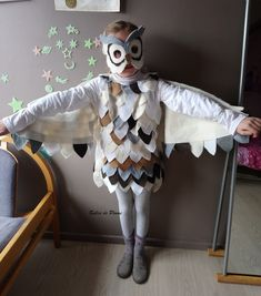DIY Costume hibou / chouette Costumes Couture, Diy Costumes, Costume Carnaval, Fancy Dress, Harry Potter, Owl, Projects, Sewing, Barn Owls