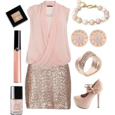 Pink and Gold / Plus Size Pretty
