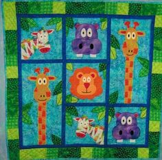 reserved for Linda - Blake's Jungle - quilt pattern. $9.00, via Etsy.