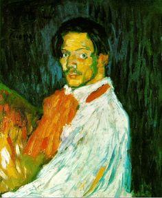 """Pablo Picasso - """"Self-portrait """"Yo, Picasso"""""""". 1901"""