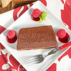 Chocolate Terrine with Raspberry Sauce #Giveaway