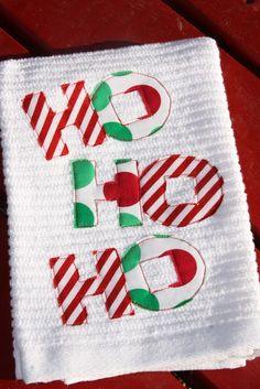 Ho Ho Ho Hand Towels for the holidays - inspiration