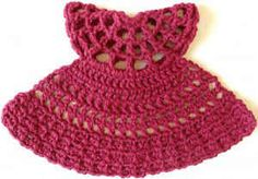 Burgundy Dress Crochet Dishcloth – Maggie