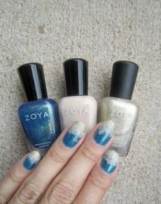Concrete and Nail Polish: Beach Nail Art With Zoya