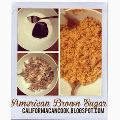 Homemade brown sugar by californiacancook.blogspot.com
