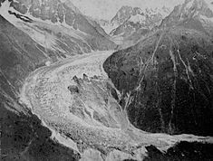 The Mer de Glace in the 1850s