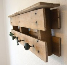 Wood Pallet Coat Rack / Reclaimed Wood Coat Rack by TheRustyWheel