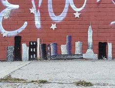 crochet skyline in NYC by London Kaye, 2015 (LP)