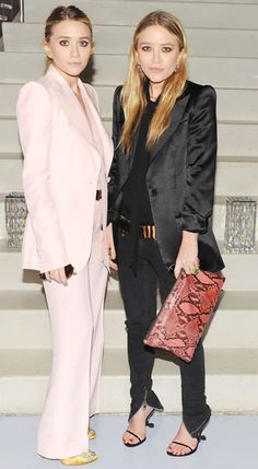 Mary-kate and Ashley Olsen looking slick in suits in 2011