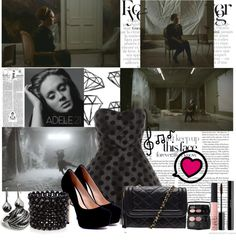 """""""Adele~Rolling in the deep"""" by adrianamezza on Polyvore"""