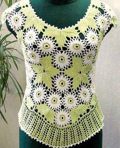 Elegant female crochet  summer blouse  Spring by Gaitaly2 on Etsy, $100.00