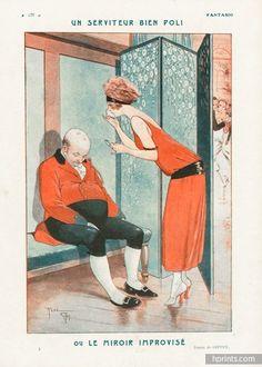 René Giffey (1884 – 1965). Le Miroir Improvisé. Fantasio, 1923. [Pinned 30-x-2015]