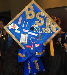 Nursing Graduation, Graduation Caps, Hanukkah, Wreaths, Decor, Degree In Nursing, Decoration, Door Wreaths, Dekoration