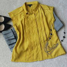 "~*Fabulous Jason Wu Blouse~ *This Jason Wu gold blouse is just absolutely fabulous!! The detailing on the front is just classy (Picture 2&3). Can be dressed up or down. Length is 23"", Pit-to-pit is 16.5"". Body material is 100% Polyester, Lace is 100% Cotton. In great condition. Ask any questions. Happy Poshing!!* Jason Wu Tops Blouses"