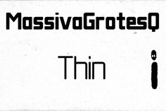 Massiva GrotesQ Thin by dawnland on Creative Market