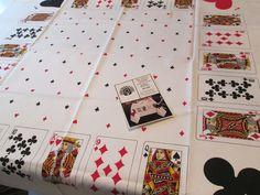 Vintage Bridge Tablecloth Bob Van Allen Cards Decks Suits New in Package | eBay